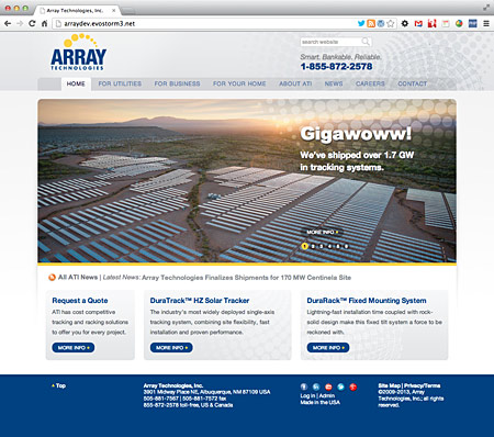 Array Technologies, solar trackers