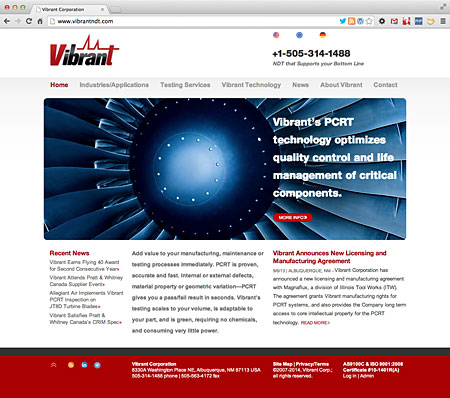 Vibrant Corporation, non-destructive testing